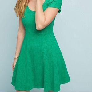 Anthropologie Maeve Kelly Green Dress Size XL